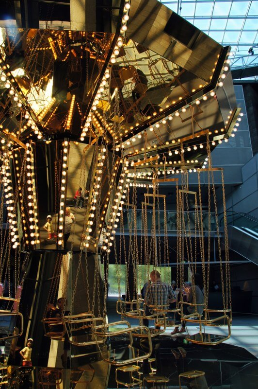golden mirror carousel
