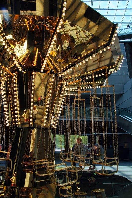 Golden Mirror Carousel by Carsten Höller NGV International 180 St Kilda Rd Melbourne 1 HOT: Golden Mirror Carousel by Carsten Höller, NGV International, 180 St Kilda Rd, Melbourne