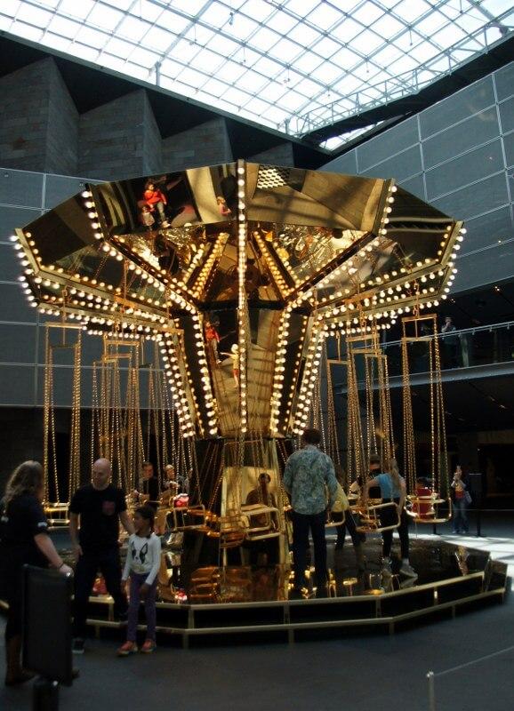 golden mirror carousel