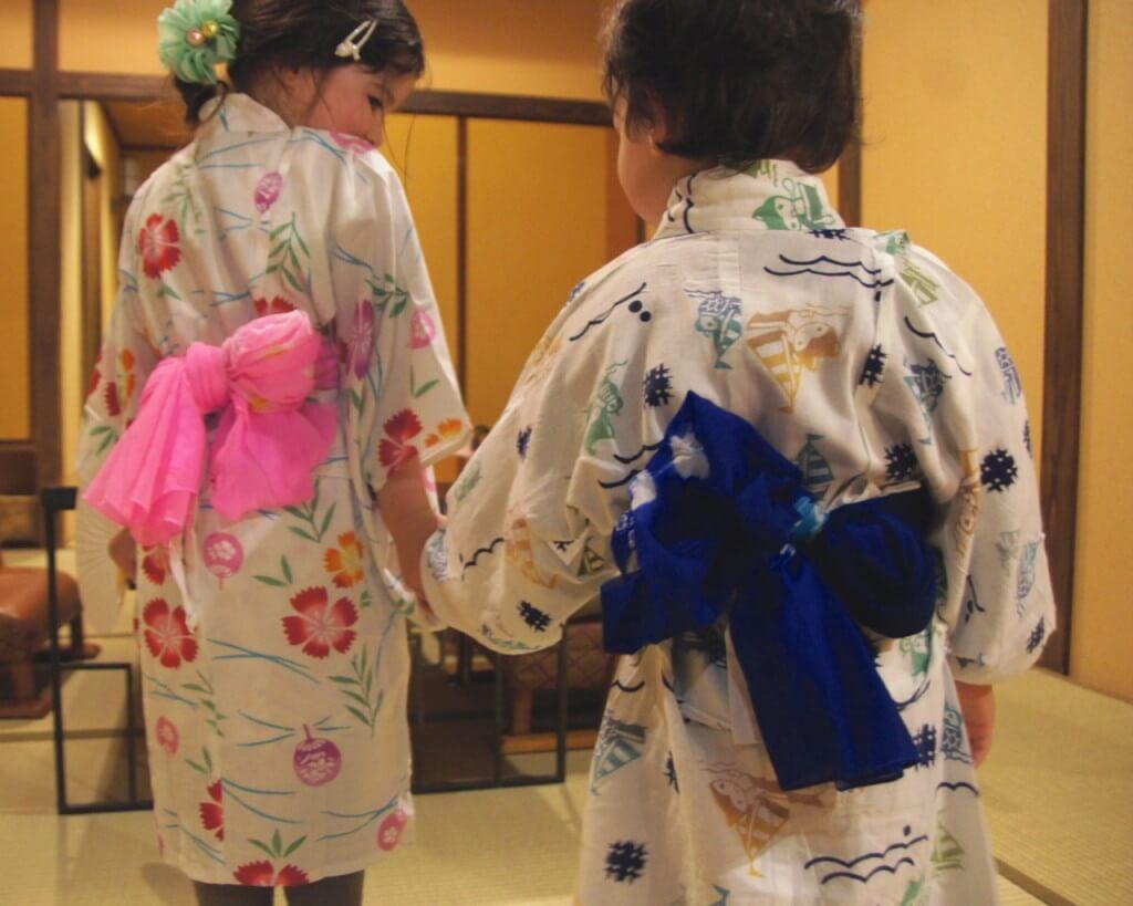 Japanese kimonos kids