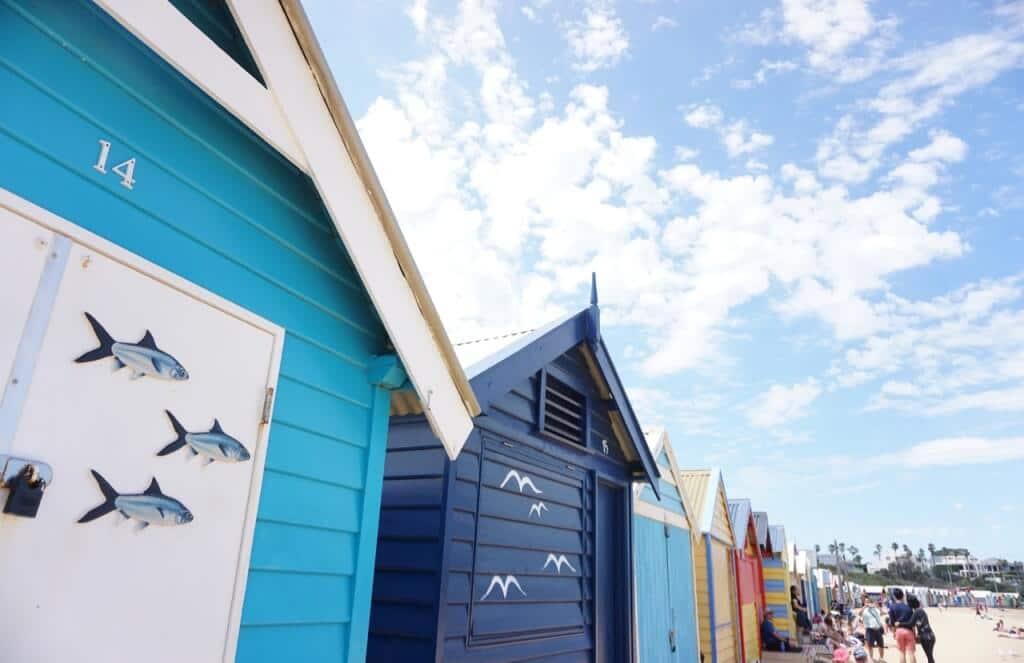 Brighton Bathing Boxes, Dendy Street Beach, cnr Dendy St and Esplanade, Brighton