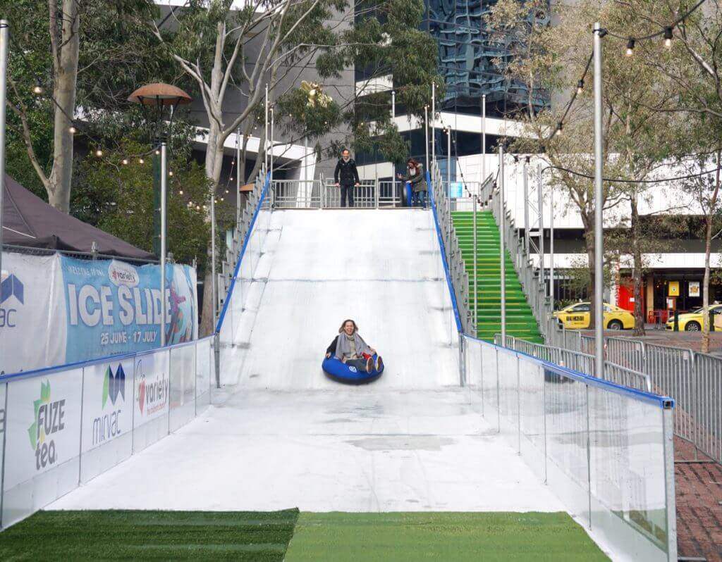 Variety Ice Slide at Eureka Skydeck, Riverside Quay, Southbank Melbourne