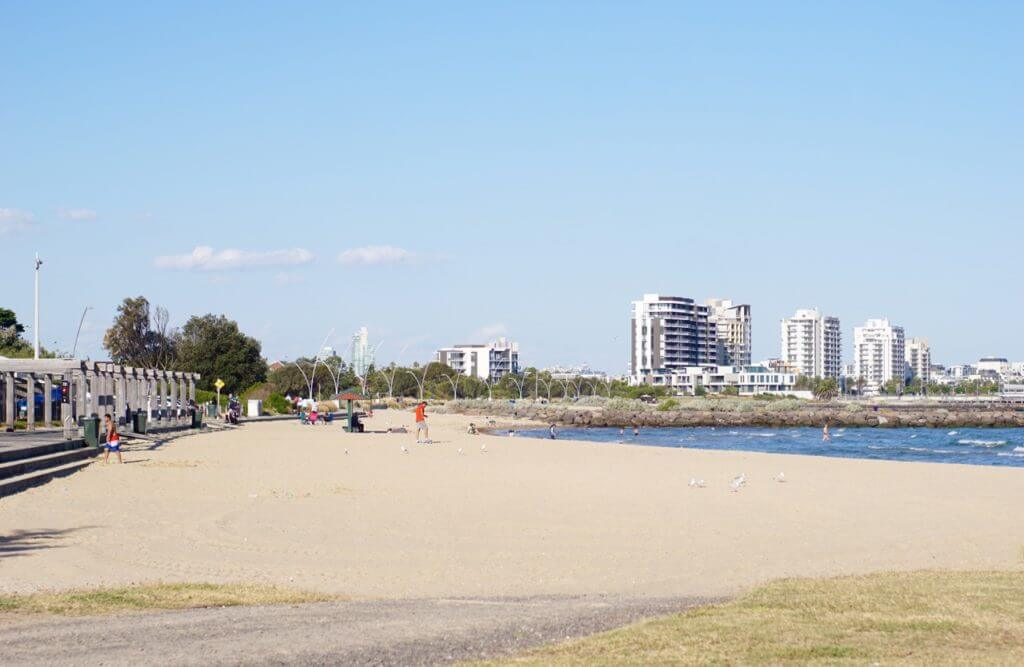 sandridge beach port melbourne