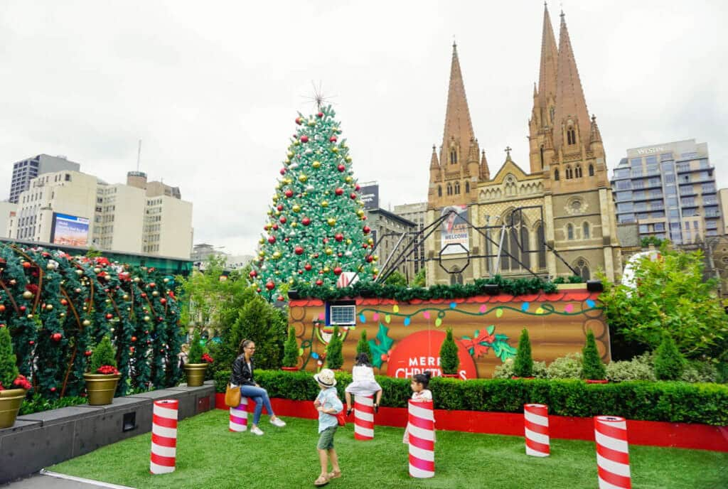 christmas federation square